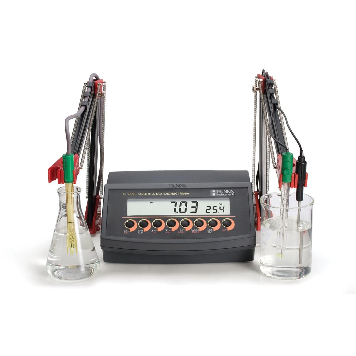 HI2550-02 - Multiparametre pH / ORP ve EC / TDS / Tuzluluk Tezgahüstü Ölçer
