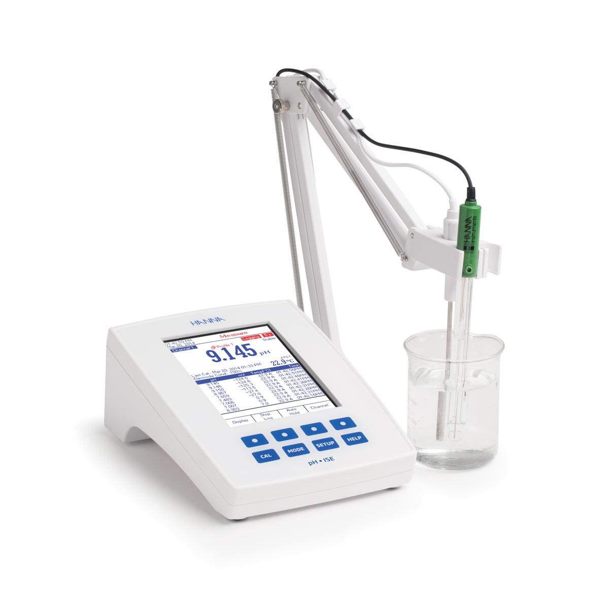 HI5222-02 - Laboratuvar Araştırma Sınıfı Masaüstü pH / mV / ISE Ölçer