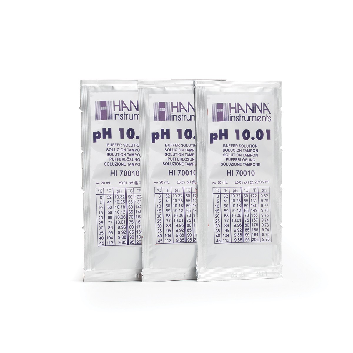 HI70010P - pH 10.01 Calibration Buffer Sachets (25 x 20 mL)