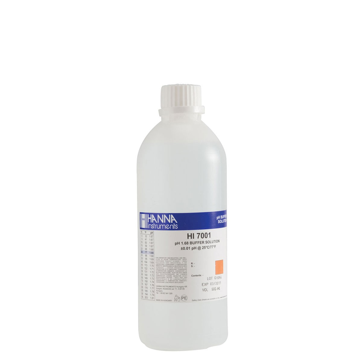 HI7001L - pH 1.68 Calibration Solution (500 mL)