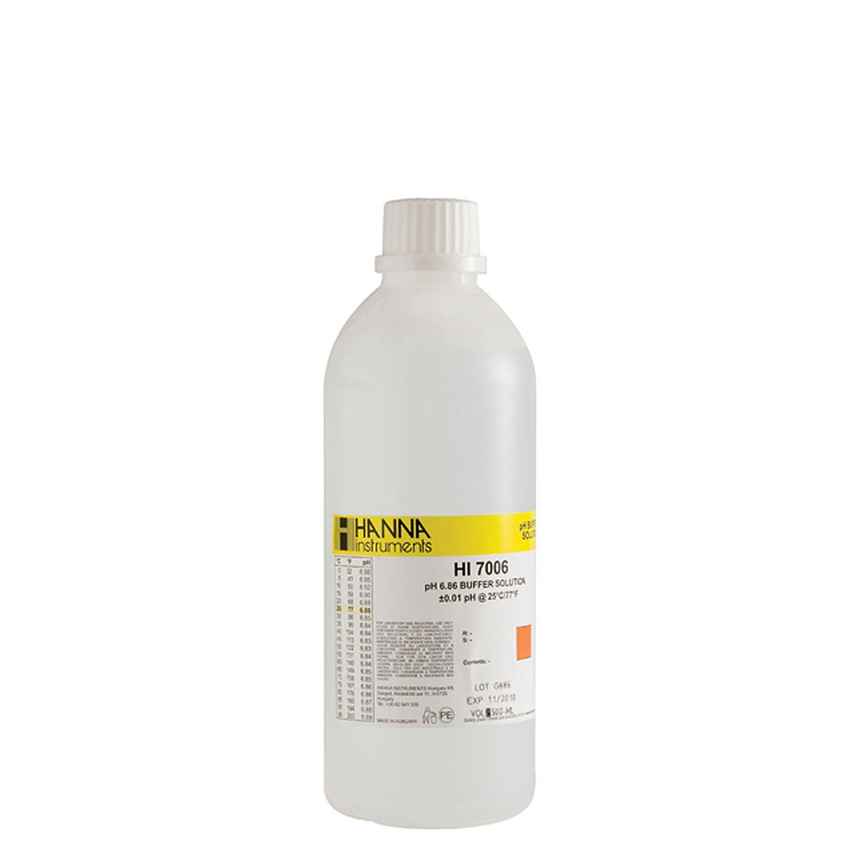 HI7006L - pH 6.86 Calibration Solution (500 mL)