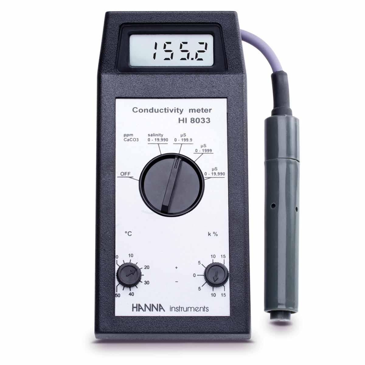 HI8033 - Taşınabilir Yüksek Aralıklı EC / TDS Ölçer