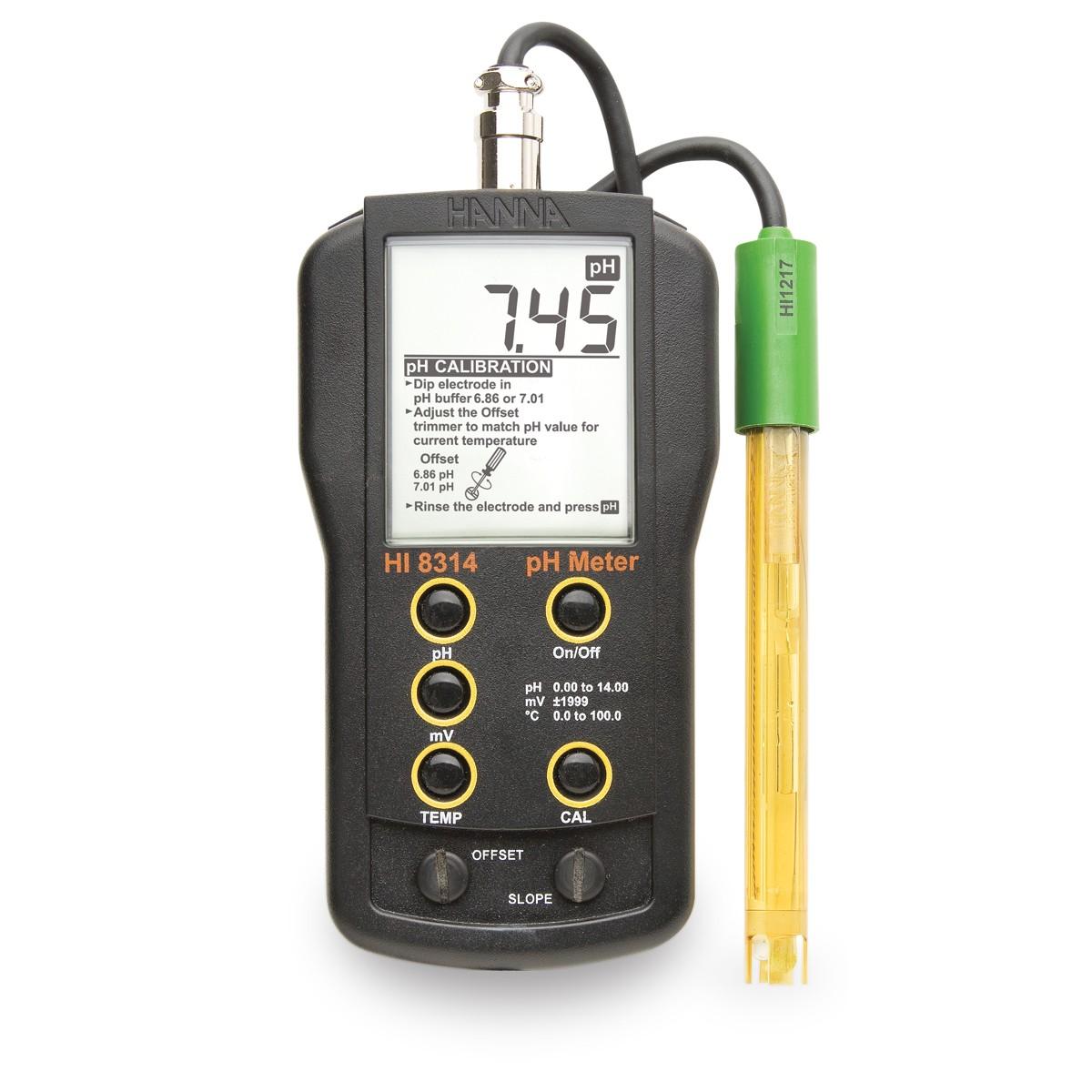 HI8314 - Taşınabilir pH / mV / ° C Ölçer