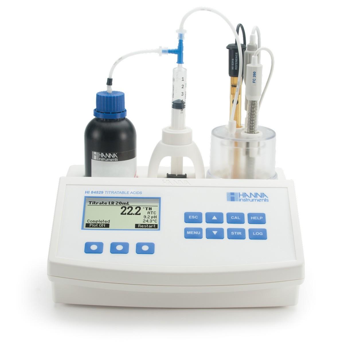 HI84529-Süt Ürünlerinde Titre edilebilir Asitlik Ölçümü için Mini Titratör