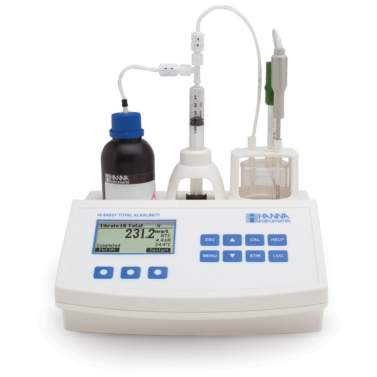 HI84531 - Su ve Atık Sularda Titre Edilebilir Alkaliteyi Ölçmek için Mini Titratör