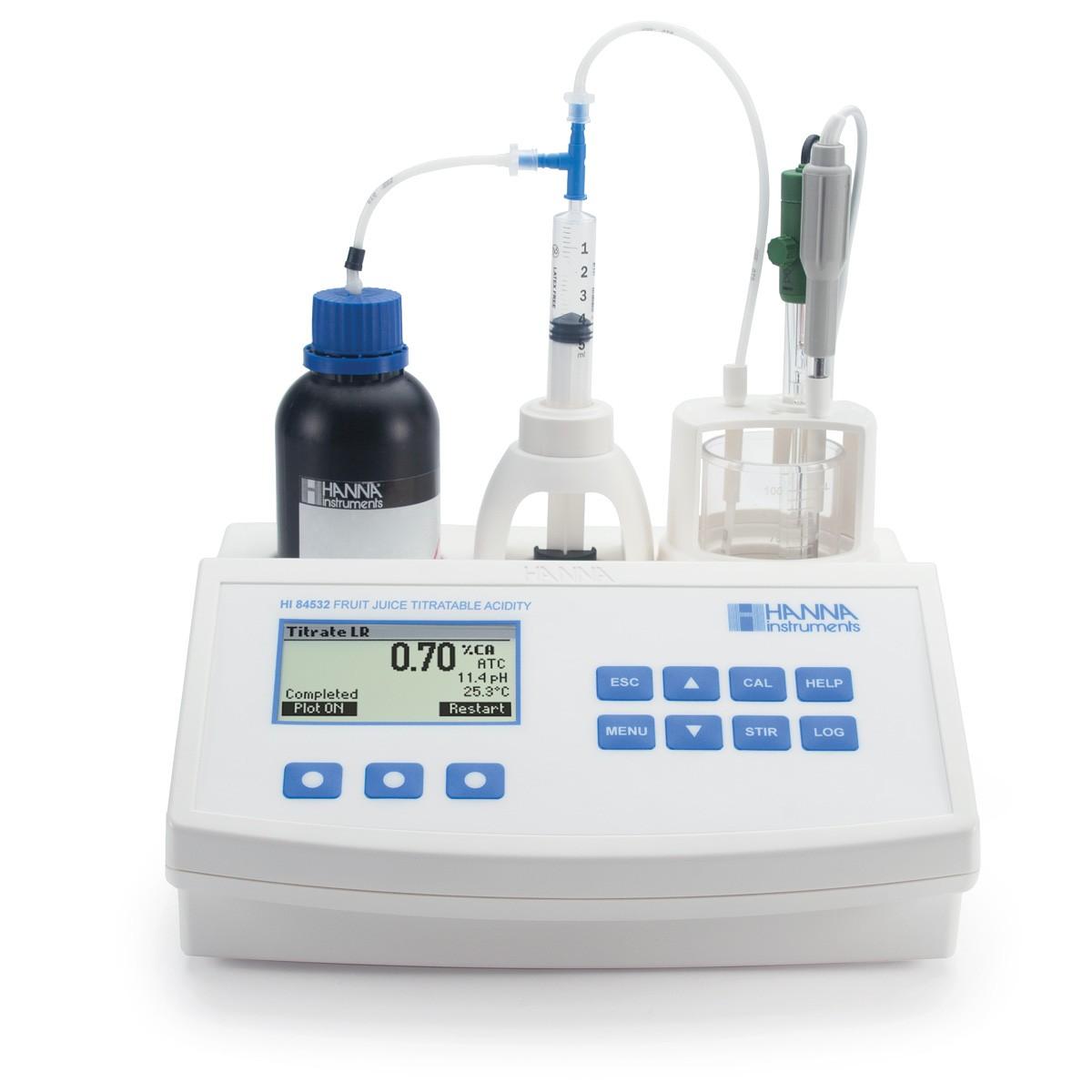 HI84532-Meyve Suyunda Titre Edilebilir Asitliği Ölçmek için Mini Titratör