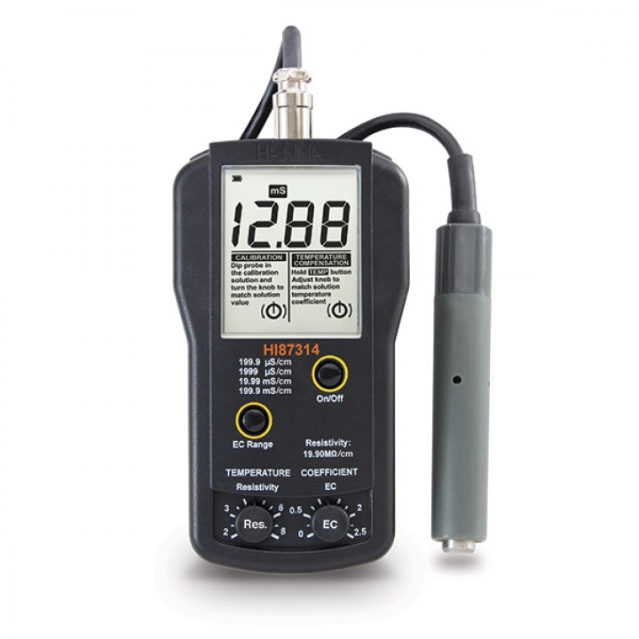 HI87314 - Taşınabilir  EC ve Direnç Metre