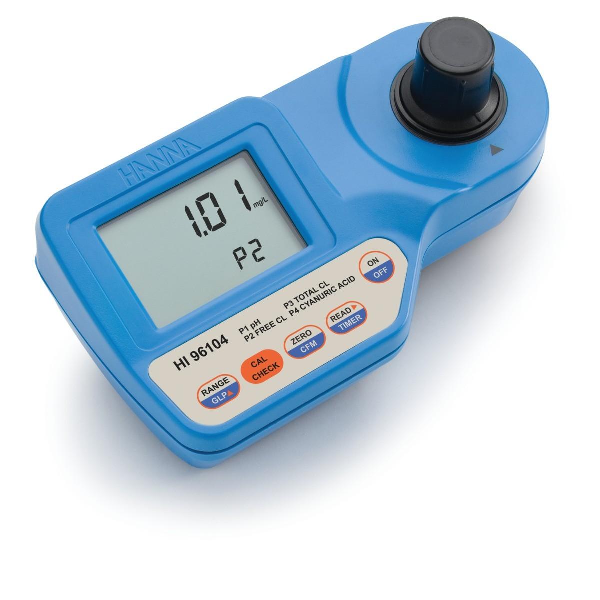 HI96104 - pH, Serbest Klor ve Toplam Klor ve Siyanürik Asit Taşınabilir Fotometre