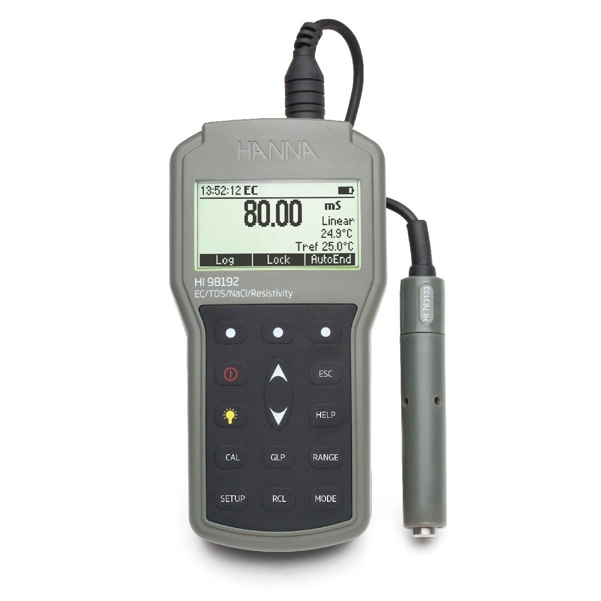 HI98192 - Su geçirmez Taşınabilir EC / TDS / Direnç / Tuzluluk Ölçer